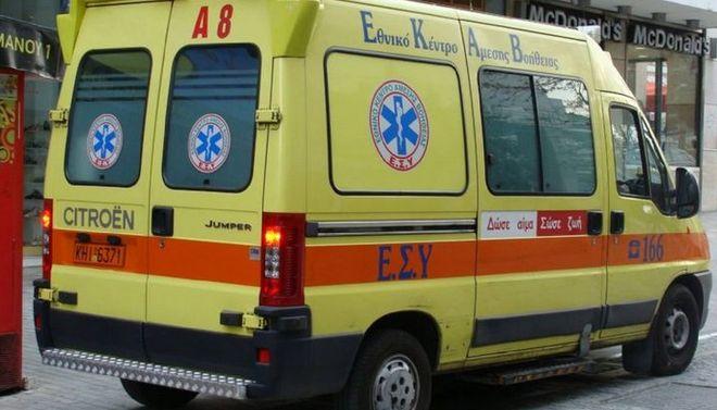 Τροχαίο ατύχημα με δύο τραυματίες στην Καλαμπάκα