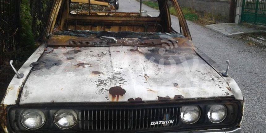 Άγνωστοι πυρπόλησαν αγροτικό αυτοκίνητο στην Καλαμπάκα