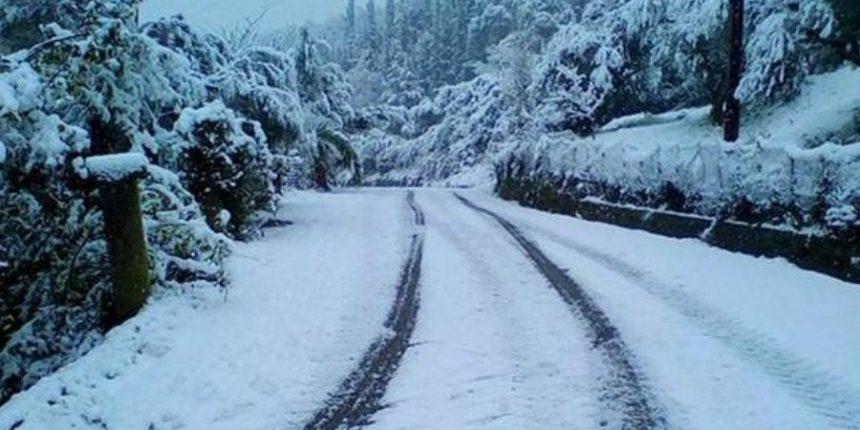 Πυκνή χιονόπτωση από το πρωί στα ορεινά των Τρικάλων
